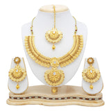 Sukkhi Modish Temple Gold Plated Necklace set For Women-5