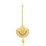 Sukkhi Modish Temple Gold Plated Necklace set For Women-6