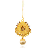 Sukkhi Ravishing Jalebi Gold Plated LCT Stone Collar Necklace Set For Women-2