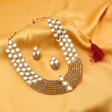 Sukkhi Astonish Gold Plated AD Collar Necklace Set For Women