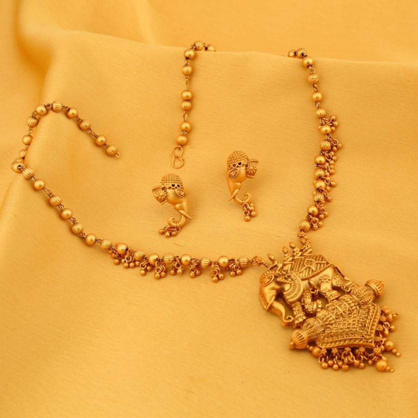 buy necklace sets online temple jewellery gold plated neckace sets