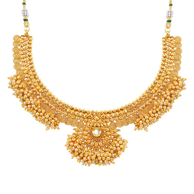 Sukkhi Astonish Jalebi Design Gold Plated Choker Necklace set For Women