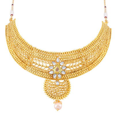 Sukkhi Appealing Gold Plated Choker Necklace Set for women - Title