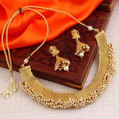 Sukkhi Trendy Gold Plated Laxmi Design Necklace Set for women - Title