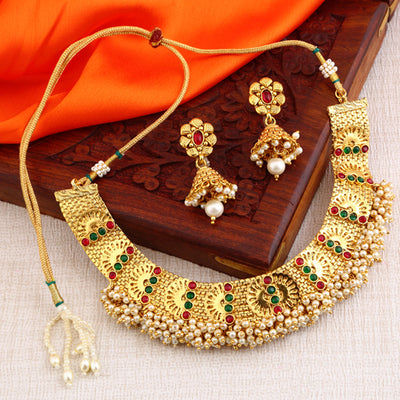 Sukkhi Reversible Graceful Gold Plated Necklace Set for women - Title