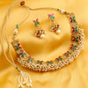 Sukkhi Amazing Red and Green Gold Plated Necklace Set for women
