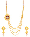 Sukkhi Alluring 4 String Jalegi Gold Plated Necklace Set for women
