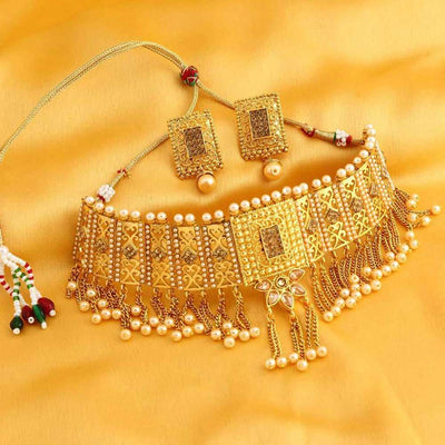 Sukkhi Alluring Gold Plated necklace set for women - Title