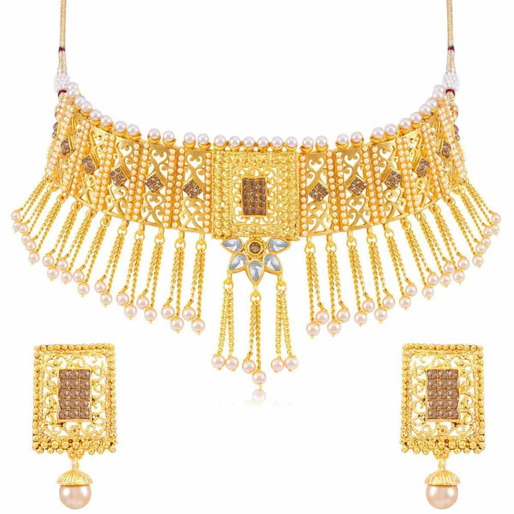 459f39a8e7942 Sukkhi Alluring Gold Plated necklace set for women - Title - Sukkhi.com
