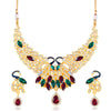 Sukkhi Lavish Peacock Shaped Gold Plated necklace set for women