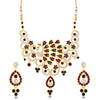 Sukkhi Resplendent Peacock Shape Gold Plated necklace set for women