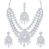 Sukkhi Alluring AD Rhodium Plated necklace set for women