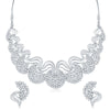 Sukkhi Graceful AD Rhodium Plated necklace set for women