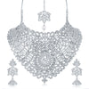 Sukkhi Dazzling AD Rhodium Plated necklace set for women