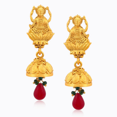 Sukkhi Ravishing Laxmi Temple Gold Plated Necklace Set For Women