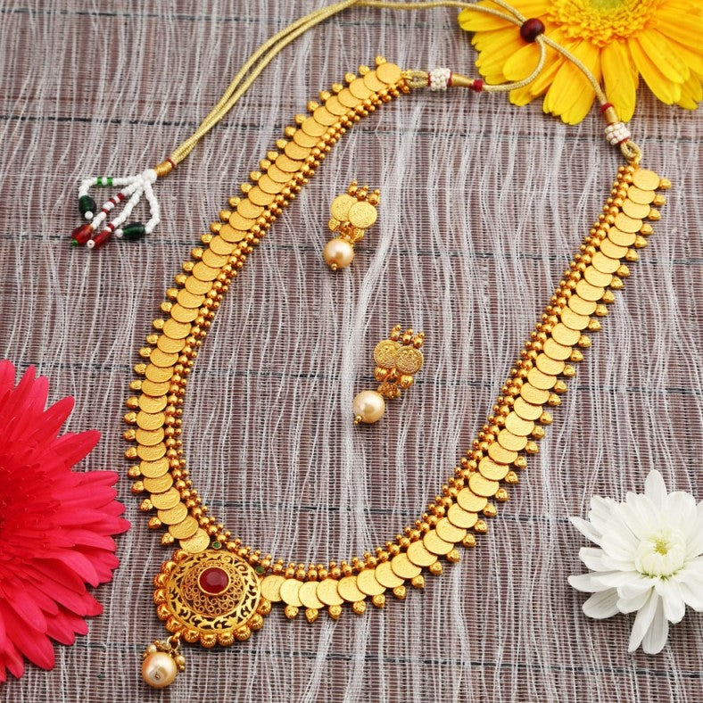 Buy Necklace Sets Online, Temple Jewellery, Gold Plated
