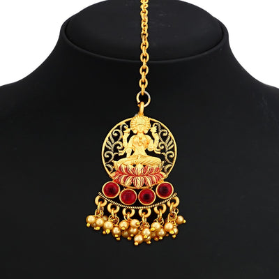 Sukkhi Gorgeous Gold Plated Lakshmi Temple Peacock Necklace Set For Women