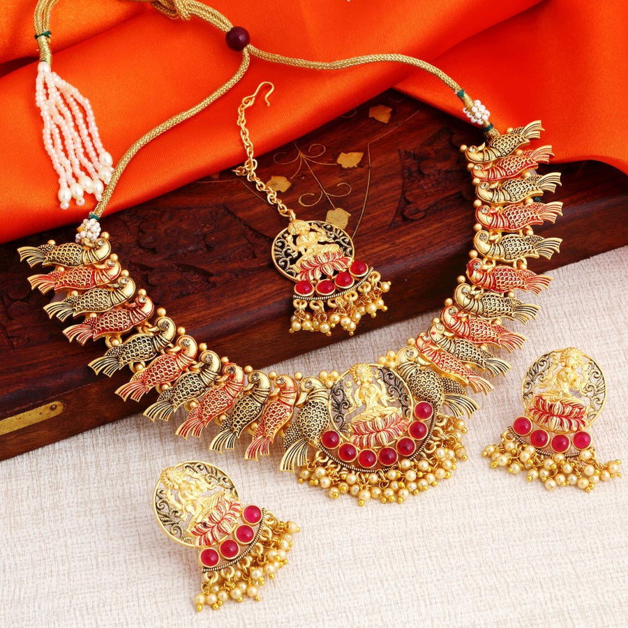 fad61260ef295 Peacock Necklace Set-Buy From Latest Design of Peacock Necklace ...