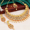 Sukkhi Trendy Gold Plated Flower Necklace Set For Women