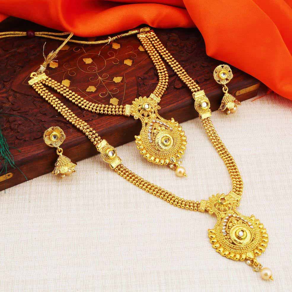 377c5c8ba34 Sukkhi Traditional Gold Plated Necklace Set For Women - Sukkhi.com