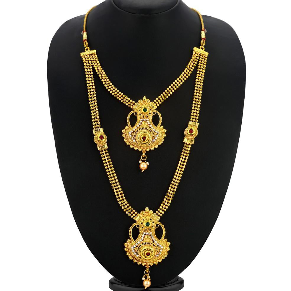Sukkhi Traditional Gold Plated Necklace Set: Sukkhi Trendy Gold Plated Necklace Set For Women