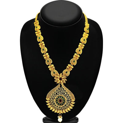 Sukkhi Shimmering Gold Plated Necklace Set For Women