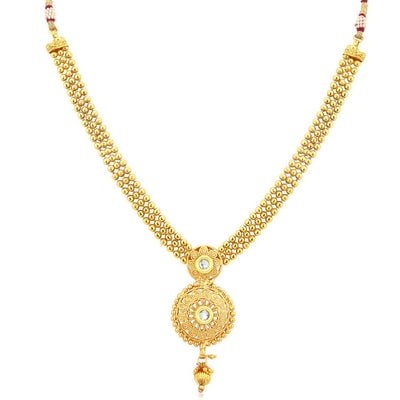 Sukkhi Glistening Gold Plated Necklace Set For Women