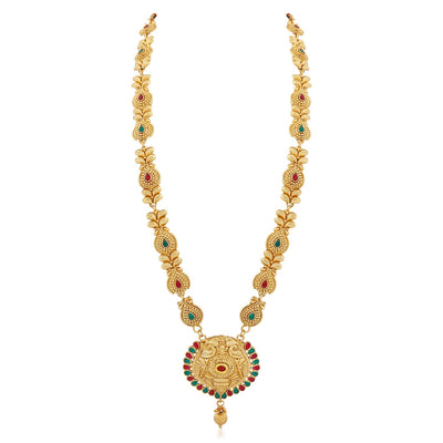 Sukkhi Beguiling Gold Plated Necklace Set for women