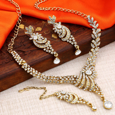 Sukkhi Awesome Gold Plated Ad Neackalce Set For Women