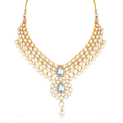 Trushi by Sukkhi Modern Gold Plated Choker Set for women
