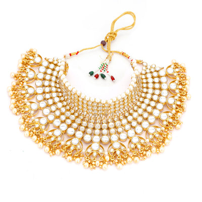 Trushi by Sukkhi Modern Gold Plated Necklace Set for Women