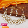 Sukkhi Astonish Floral Gold Plated Kundan Necklace Set for Women