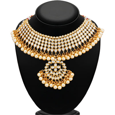 Trushi by Sukkhi Lavish Gold Plated Necklace Set for Women