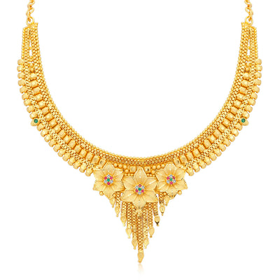 Sukkhi Classy Alloy 24 Carat 1 Gram Gold Jewellery Necklace Set for Women