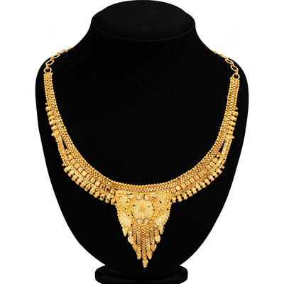 Sukkhi Exotic Alloy 24 Carat 1 Gram Gold Jewellery Necklace Set for Women