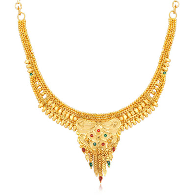 Sukkhi Incredible Alloy 24 Carat 1 Gram Gold Jewellery Necklace Set for Women