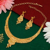Sukkhi Gleaming Alloy  24 Carat 1 Gram Gold Jewellery Necklace Set for Women