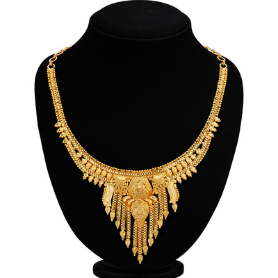 Sukkhi Cluster  24 Carat 1 Gram Gold Jewellery Necklace Set for Women