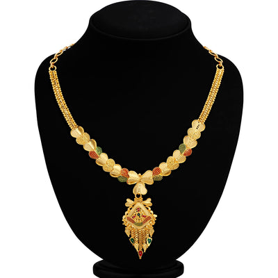 Sukkhi Classy 24 Carat 1 Gram Gold Jewellery Necklace Set for Women