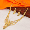 Sukkhi Exquisite 24 Carat 1 Gram Gold Jewellery Rani Haar Necklace Set for Women