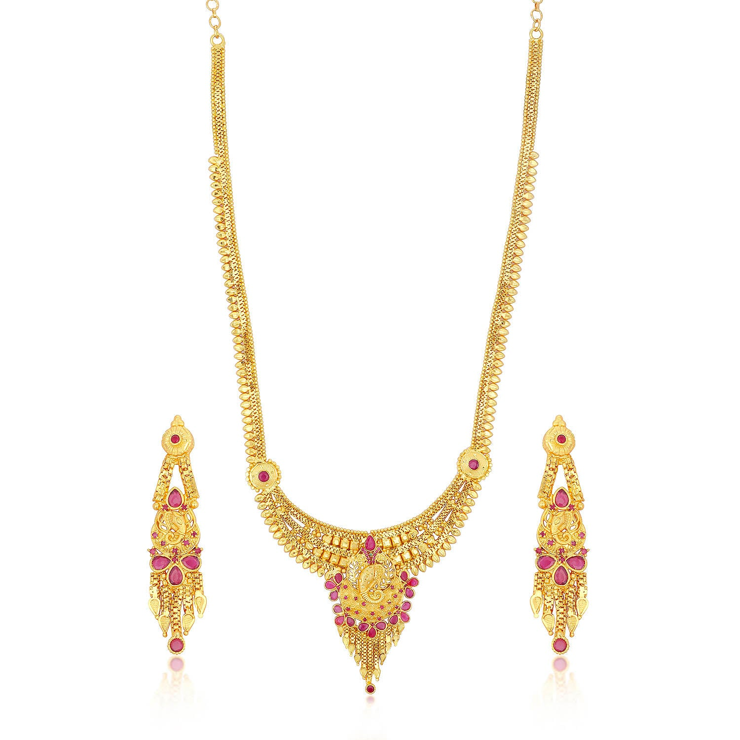 Sukkhi Modern 24 Carat 1 Gram Gold Jewellery Long Haram Necklace
