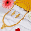 Sukkhi Stylish 24 Carat 1 Gram Gold Jewellery Long Haram Necklace Set for Women