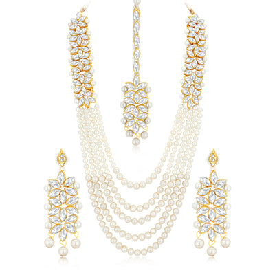 Sukkhi Ritzy Gold Plated Haram Necklace Set for Women