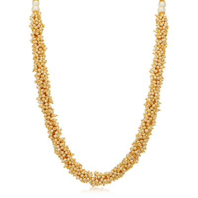 Sukkhi Wavy Gold Plated Necklace Set for Women