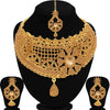 Sukkhi Spectacular Gold Plated LCT Stone Choker Necklace Set For Women