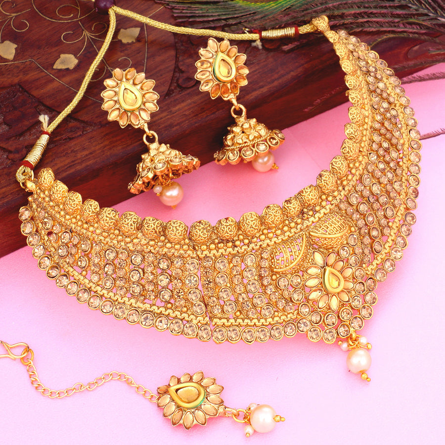 Buy Necklace Sets Online Temple Jewellery Gold Plated Neckace
