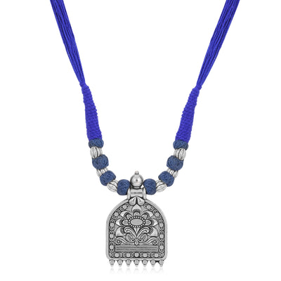 Sukkhi Appealing Oxidised Silk Thread Long Haram Necklace for Women