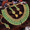 Sukkhi Eye-Catching Gold Plated Choker Necklace Set For Women
