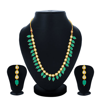 Sukkhi Artistically Gold Plated Kundan Choker Necklace Set for Women