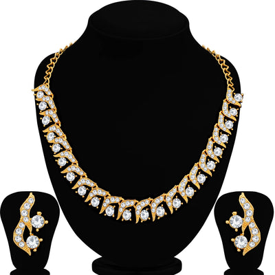 Sukkhi Spectacular Mehandi Gold Plated Necklace Set For Women